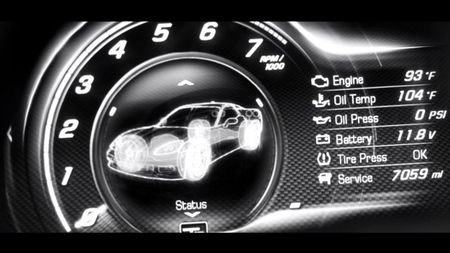 Chevrolet Continues 2014 Corvette C7 Tease, Shows Digital Gauge Cluster