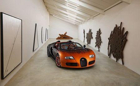 Bugatti Veyron Grand Sport Gets Art-Car Treatment with Arithmetic Flame Job