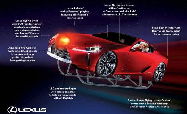 Lexus Finds New Use for the LF-LC Concept: Santa's Flying Luxury Cruiser
