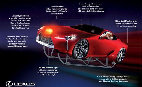 Lexus Flying Car >> Lexus Debuts Santa S Lexus Flying Luxury Cruiser News Car And Driver