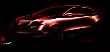 Next-Gen Acura MDX Headed to Motown as a Concept [2013 Detroit Auto Show]