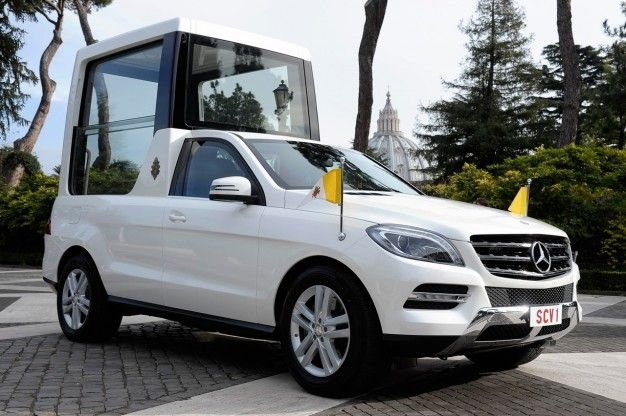 Holy M-class! Mercedes-Benz Presents Latest Popemobile to His Holiness
