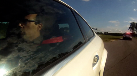 Video: Watch a Drifting C63 Black Series Being Chased By a Cop Car at VIR [Lightning Lap 2013 Preview]