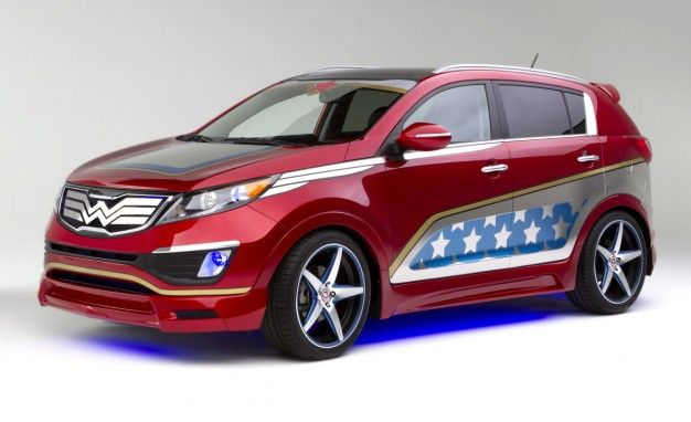 Kia Reveals Wonder Woman–Inspired Sportage, It's Disappointingly Visible [2013 New York Auto Show]