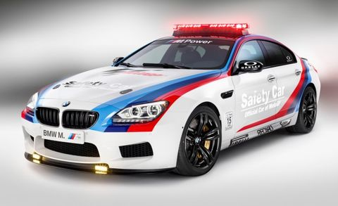 Light Bars Make Everything Better: BMW Adds M6 Gran Coupe to Roster of MotoGP Safety Cars
