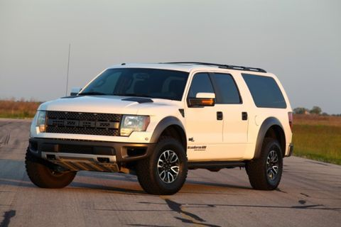 Hennessey's Ford Raptor–Based VelociRaptor SUV: Eight Seats, 600 hp
