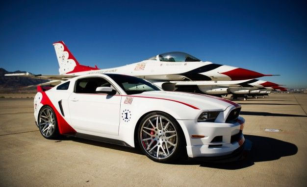 One Off Ford Mustang Gt Inspired By Air Forces Thunderbirds News Car And Driver