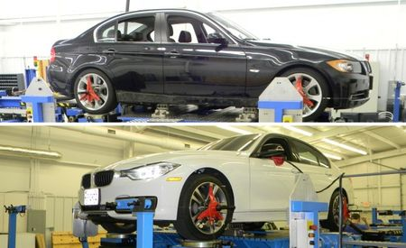 A Tale of Two BMW 3-series: A Chassis Rig Reveals Why the E90 and F30 Feel So Different