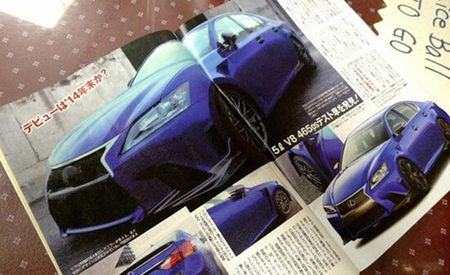 "2015 Lexus GS F ""Uncovered"" By Japanese Magazine, Will Get 400-Plus-hp V-8"