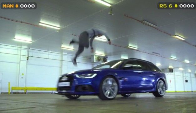 Audi Pits Former Stig, RS6 Avant Against Jogger in All-Out Paintball War