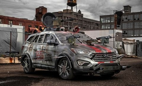 Hyundai Really, Really Concerned About Zombies, Debuts Santa Fe–Based Apocalypse Machine