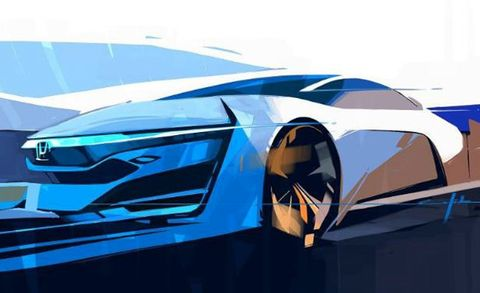FCEV Me: Honda Releases Sketch of Concept Previewing 2015 Fuel-Cell Electric Vehicle [2013 L.A. Auto Show]