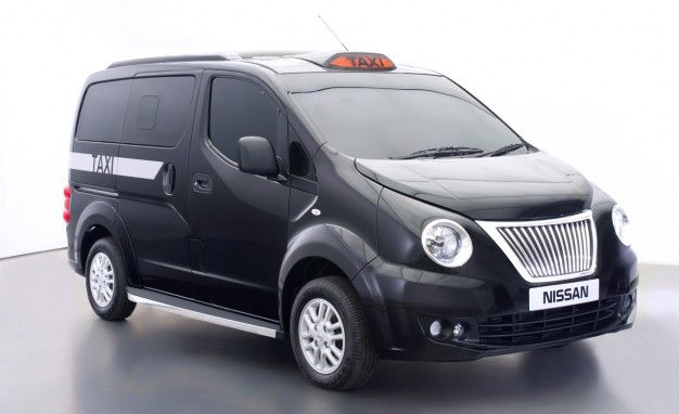Nissan's Taxi for London Grafts Famous Black Cab Face on a Modern Van