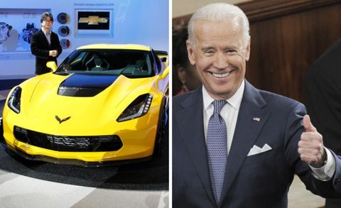 Six-Grand Clutch Dump in New Corvette Z06 High on Agenda for Vice President Biden