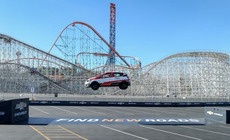 Fantasy Flier: Rob Dyrdek Sets Record Backwards Jump Distance in a Chevy Sonic