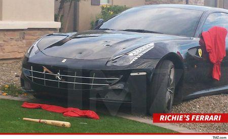 NFLer Richie Incognito Smashes Own Ferrari FF with a Baseball Bat