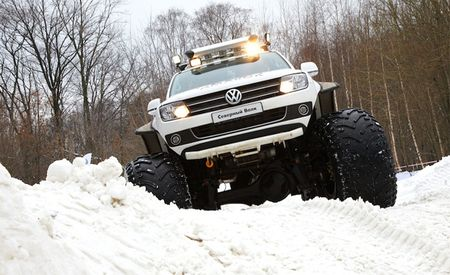 Your Sochi Hotel Not Built Yet? Better Hope VW Brings These Amarok Polar Expedition Trucks to Olympics for Aid