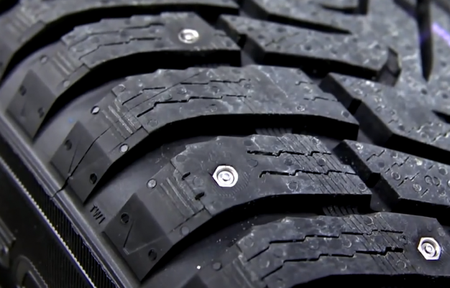 Super Cool: Retractable-Stud Winter Tire Concept Provides Studded Grip at the Press of a Button