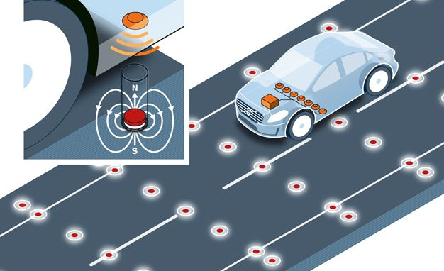 Volvo Working On In-Road Magnet Tech to Help Guide Autonomous Cars