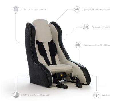 Volvo Unveils Inflatable Child Safety Seat Concept, Parents Everywhere Stoked