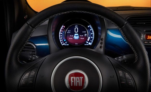 "TV Eye-talian: 2015 Fiat 500 Gets Updated Interior, Including 7"" HD Instrument Cluster"