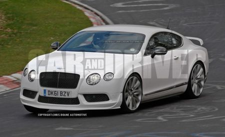 High-Po Bentley Continental GT RS Spied at the 'Ring, Sports Goofy Spoiler