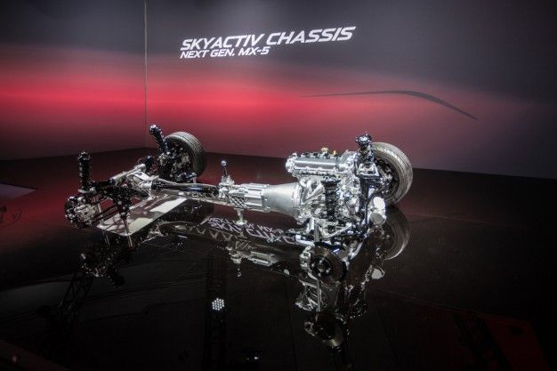 """Mazda Shows Chassis for Next-Gen 2016 Miata, Calls It a """"Table of Contents"""" [2014 New York Auto Show]"""