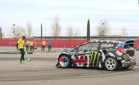 Footkhana = Ken Block and His Fiesta Playing Soccer with Fleet-Footed Tricksters