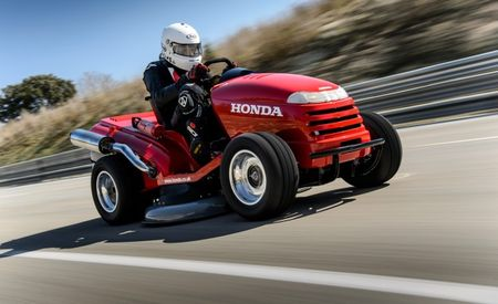Honda's Mean Mower Sets 116-mph Top-Speed Record [w/ Video]