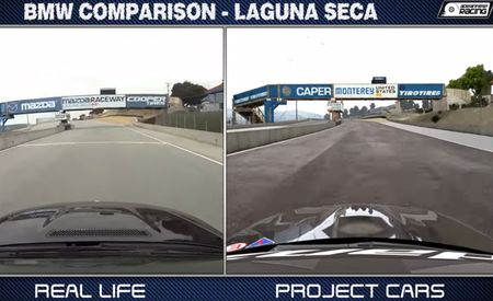 Which Is Which? Real and Video-Game BMW M3s Tackle Laguna Seca in Side-by-Side Lap Video