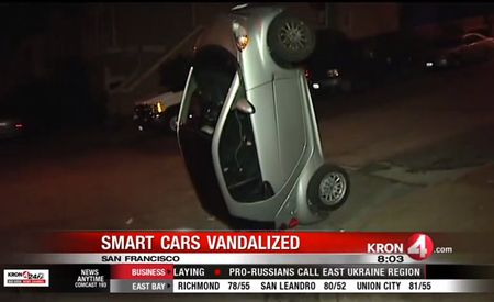 Zodiac Tippers On the Loose! Smart Cars Targeted in San Francisco!