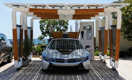 Have BMW, Will Park Under Bamboo: BMW Creates Fancy Charging Carport For i Models