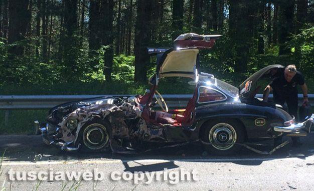 Mercedes Benz 300SL Crash