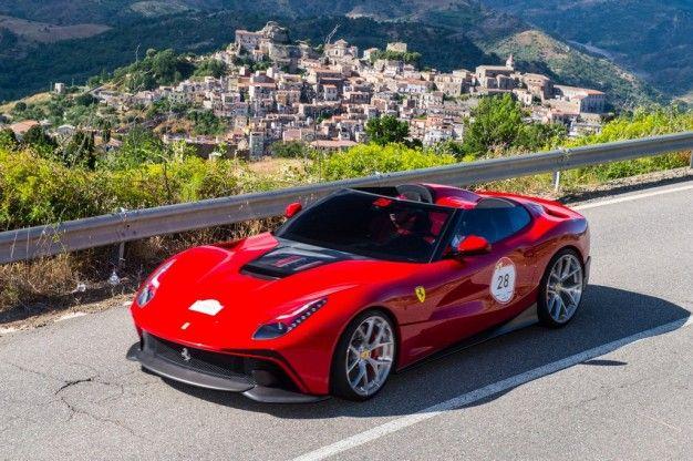 Wild Horse: Ferrari Debuts Amazing One-Off F12 TRS Barchetta in Sicily