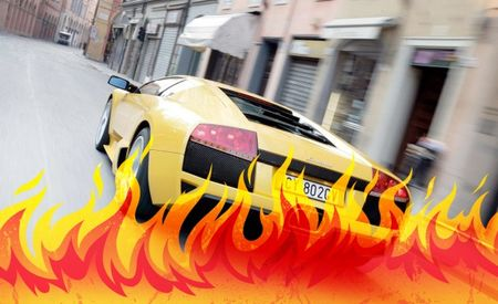 Dealership President Crashes Lamborghini Murciélago, Abandons Car While It Burns