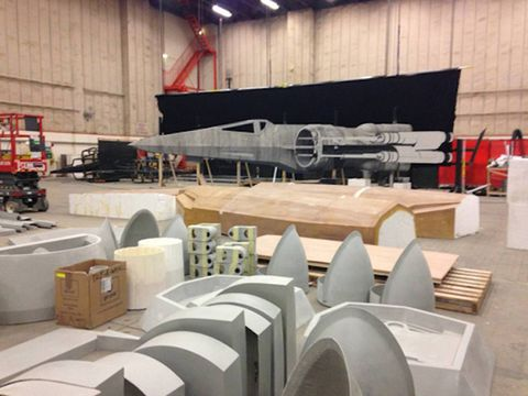 Spied! Millennium Falcon Being Constructed for Star Wars: Episode VII! [Updated w/ New Photo!]