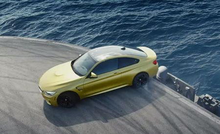Oh, How We Wish This Awesome Video of a BMW M4 Drifting on an Aircraft Carrier Was Real