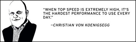 Independents of Speed, European: Christian von Koenigsegg
