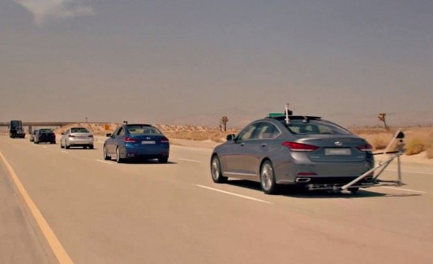 Watch Hyundai Demonstrate the 2015 Genesis's Safety Features Unsafely in a Wild Commercial