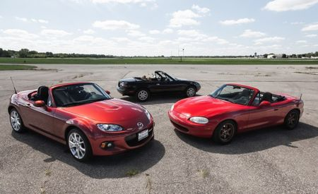 Happy 25th, MX-5 Miata! Three Generations of Mazda's Sports Car Compared—Plus Our Original Reviews!