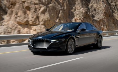 Aston Martin Drops Photos of 2016 Lagonda Super Sedan, Details Brutal Hot Weather Testing