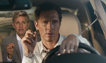 "Ellen Eats ""Special Brownies"" in Spoof of Matthew McConaughey Lincoln MKC Ad [Video]"