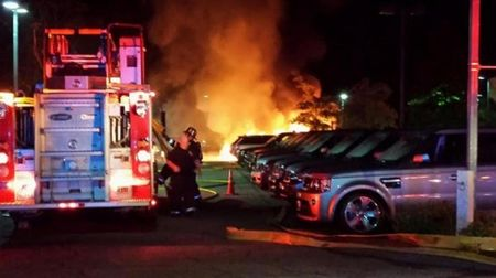 Jaguar XJ Sparks Dealership Fire Outside Boston, Destroys 19 Cars