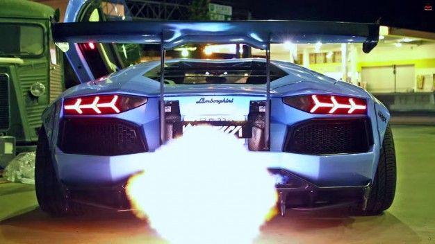 Liberty Walk's Bad-Ass Lamborghini Aventador Can Breathe Fire, Burninate the Countryside