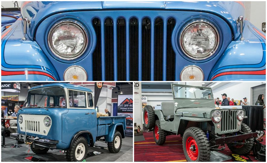 FCs, Jeepsters, CJs, and More: The Awesome Classic Jeeps of SEMA - Slide 1
