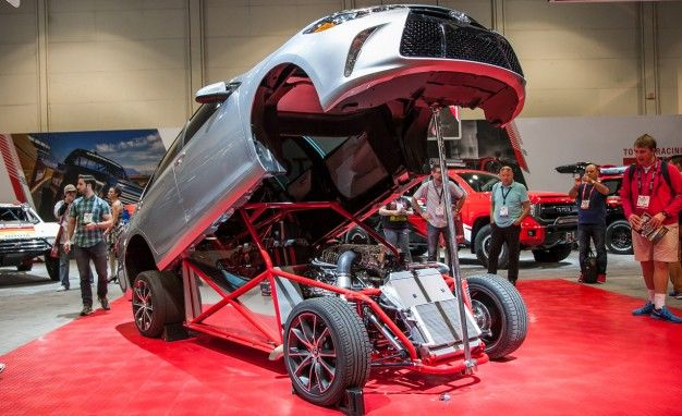 Toyota Dressed an 850-Horse Tube-Frame Dragster In Plain-Jane Camry Clothing for SEMA
