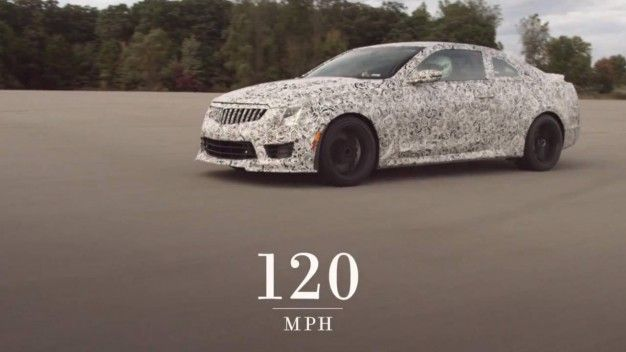 Watch Cadillac's New ATS-V Rip Off a 0-138-0-mph Run