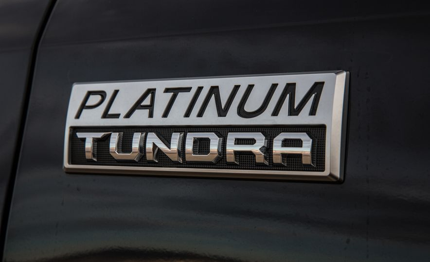 2014 Toyota Tundra Platinum, 2015 Chevrolet Silverado 1500 High Country, 2015 Ford F-150 Platinum 3.5L EcoBoost, and 2015 Ram 1500 Laramie Longhorn Limited - Slide 25