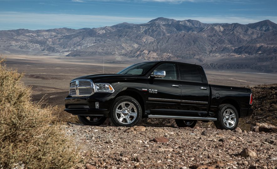 2014 Toyota Tundra Platinum, 2015 Chevrolet Silverado 1500 High Country, 2015 Ford F-150 Platinum 3.5L EcoBoost, and 2015 Ram 1500 Laramie Longhorn Limited - Slide 38