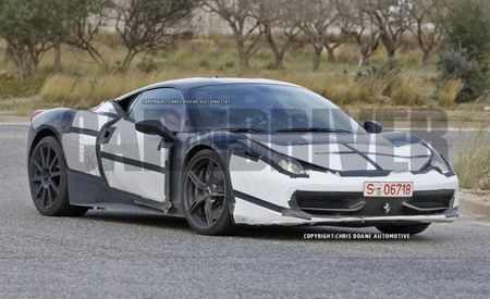 Spied! Ferrari Testing Twin-Turbo 2016 Ferrari 458 M